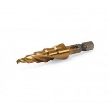 23-300 Ступенчатое сверло по металлу HSS 4241, TiN, 4-12мм